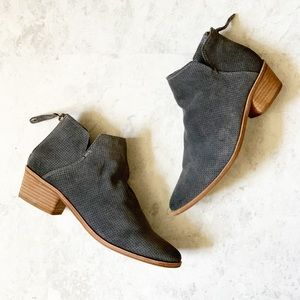 Dolce Vita Gray Perforated Karsen Ankle Boots 7.5